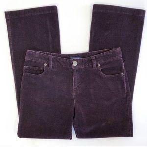 Lands End Corduroy Pants Fit 2 Boot Cut Maroon 4P